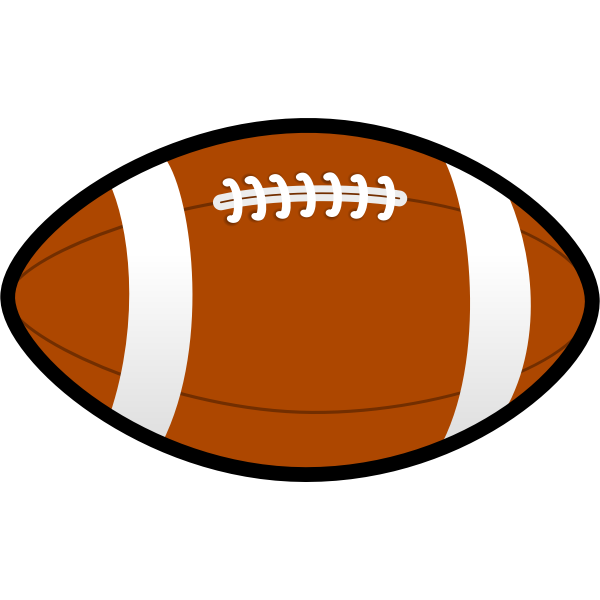Rugby ball vector illustration