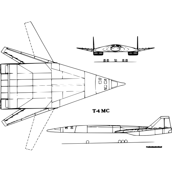 T4MS-200 aircraft vector image