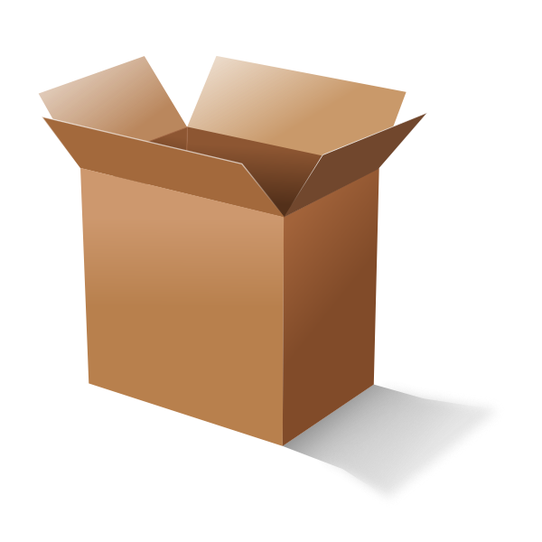 Vector graphics of open carton box