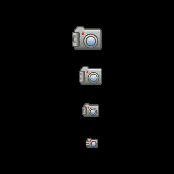 Digital photo camera icon set vector image