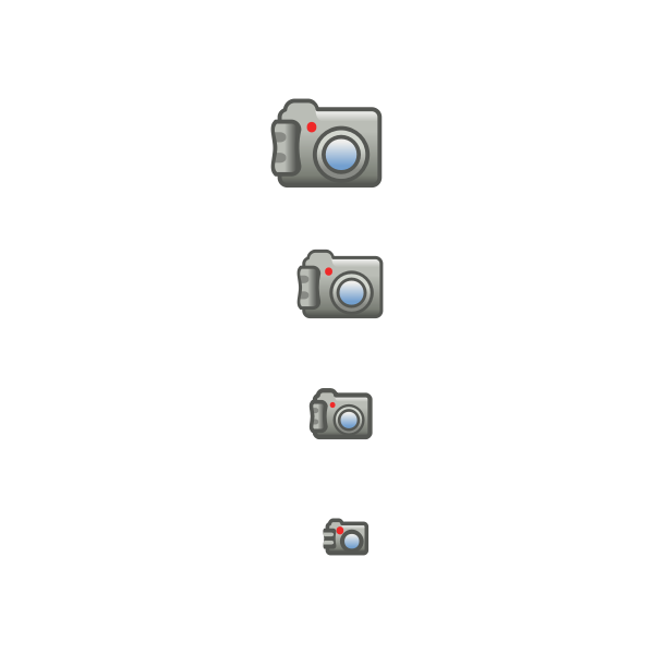 Digital photo camera icon set vector image