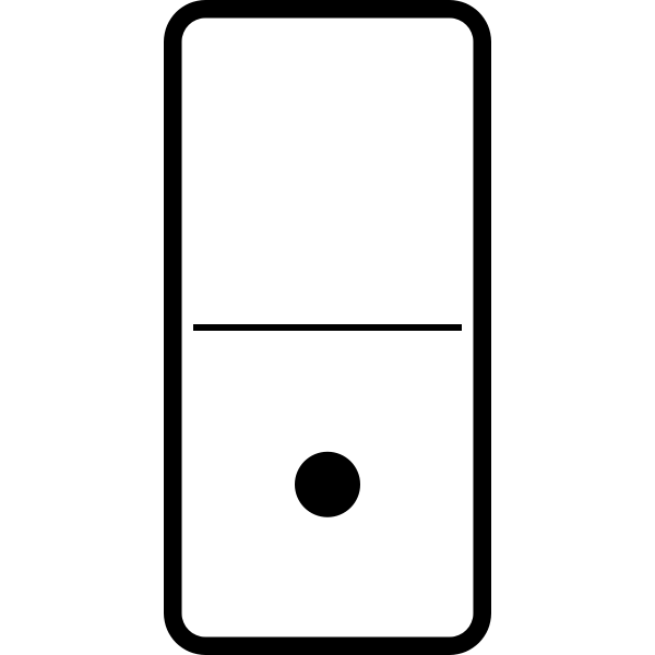 Vector image of domino tile with one dot