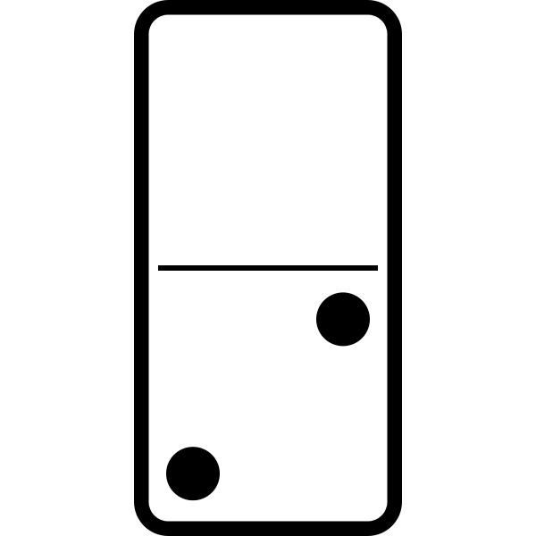 Domino tile with two dots