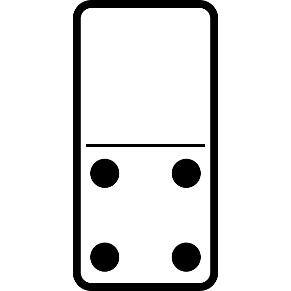 Domino tile 0-4 vector image