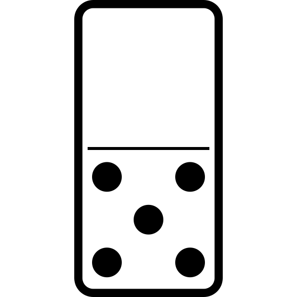 Domino tile 0-5 vector image