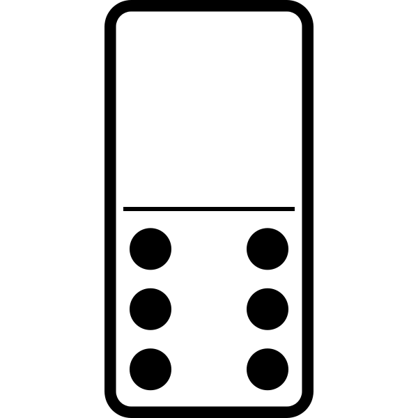 Domino tile 0-6 vector image
