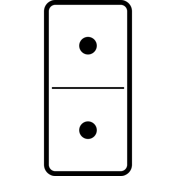 Domino tile double one vector image