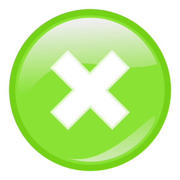 Green round decline icon vector image