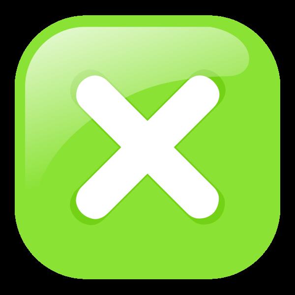 Green square decline icon vector image