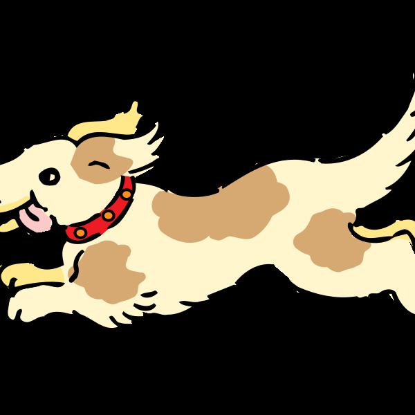 Happy running dog vector image