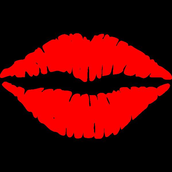 Vector clip art of lips