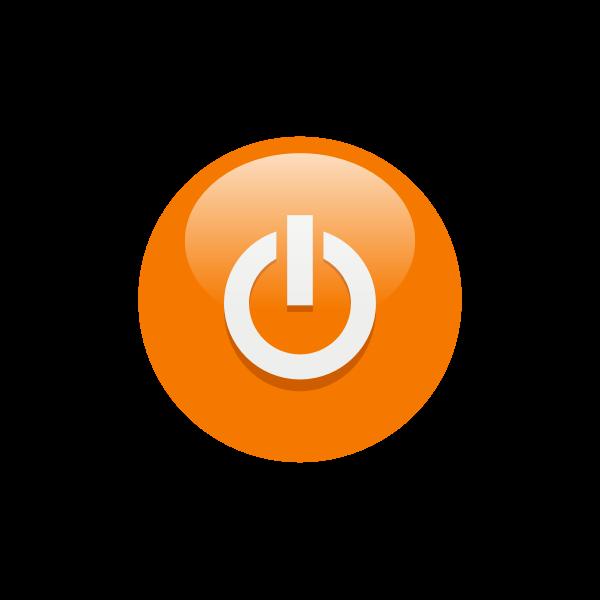 Orange power button vector illustration