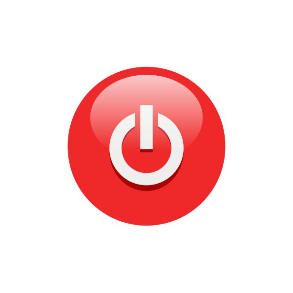 Red power button drawing