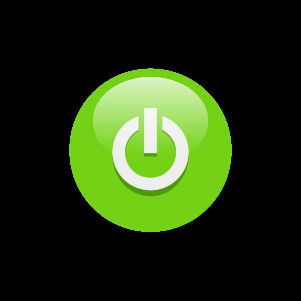 Green power button vector clip art