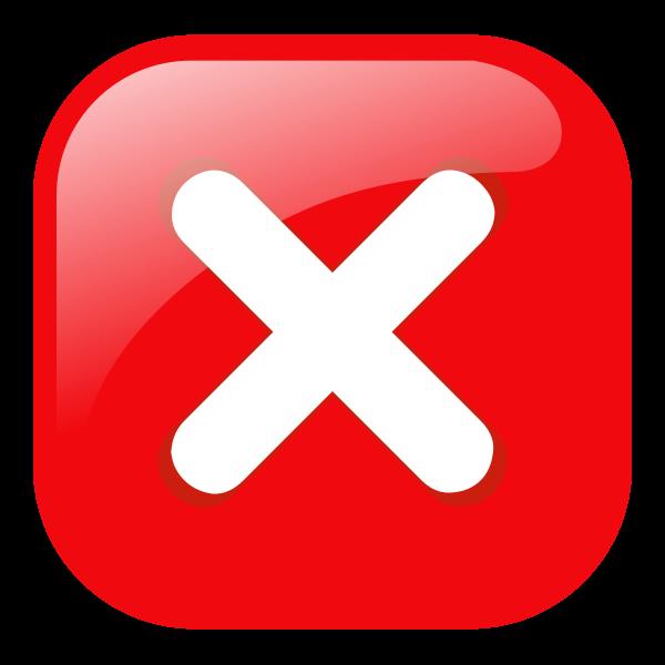 Red round error warning vector icon