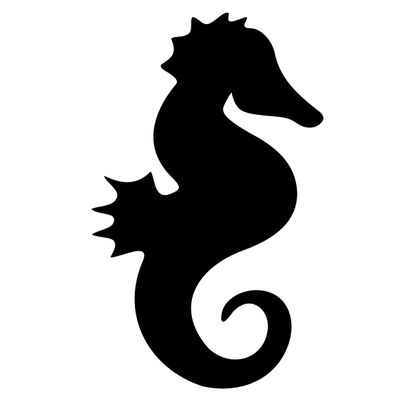 Seahorse silhouette vector