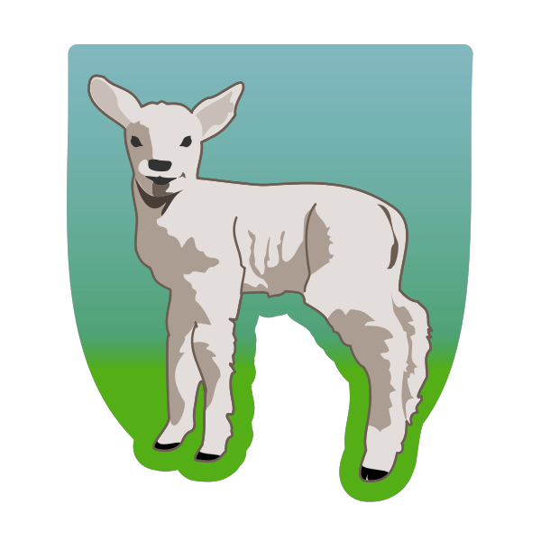 Vector illustration of young lamb