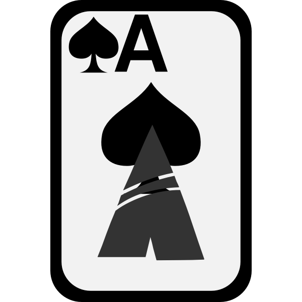 Ace of Spades funky playing card vector clip art