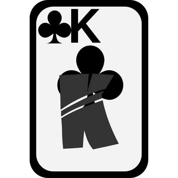 King of Clubs funky playing card vector image