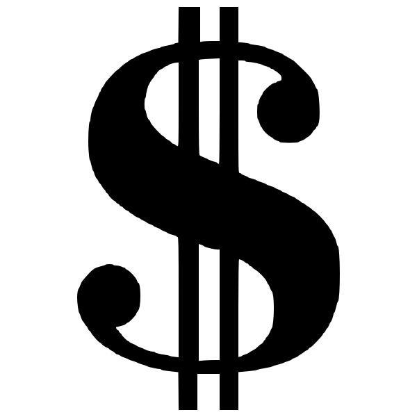 Dollar money vector symbol