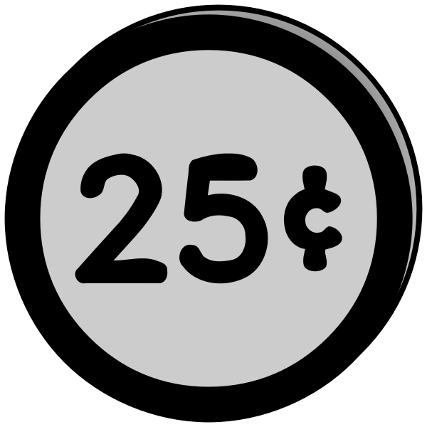 Coin 25 cents