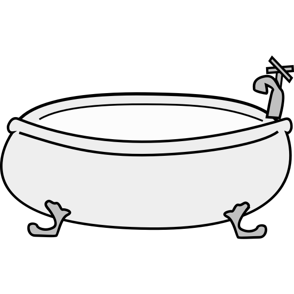 Vector graphics of old style bath tub