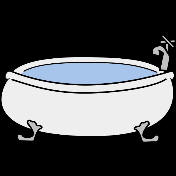 Vector image of old bath tub