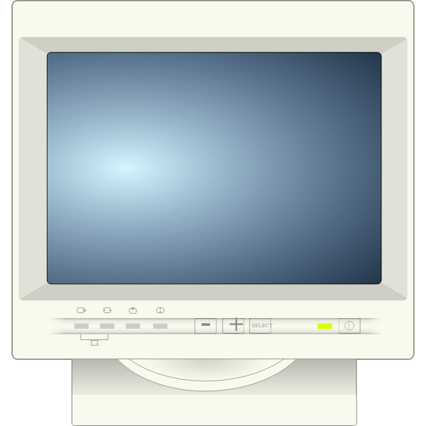 CRT computer monitor vector image