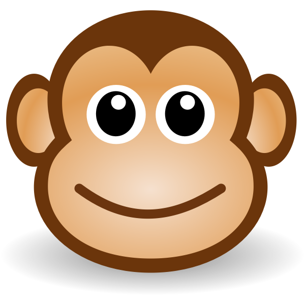 Cartoon monkey's face