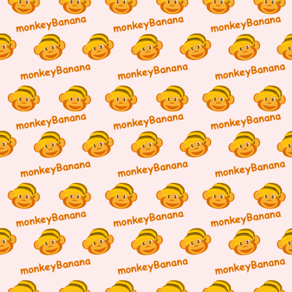 Monkey banana seamless pattern vector illustration