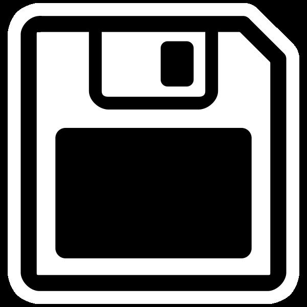 Monochrome floppy disk