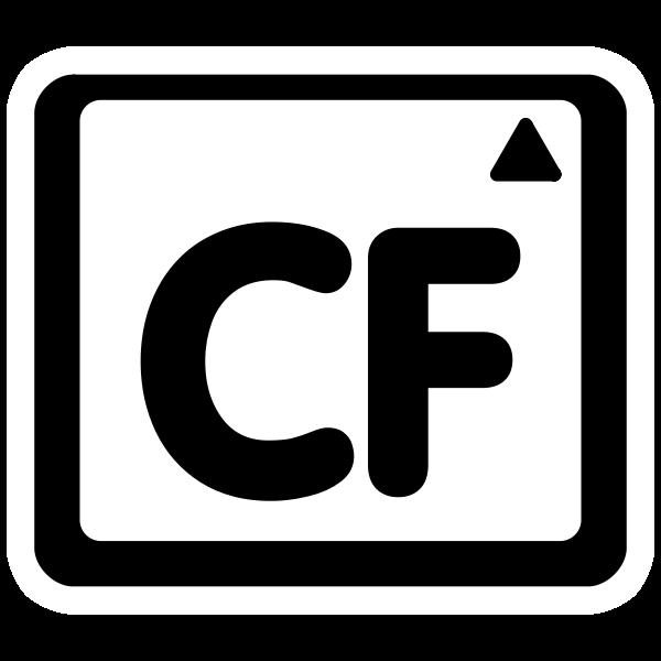 Mono compact flash mount