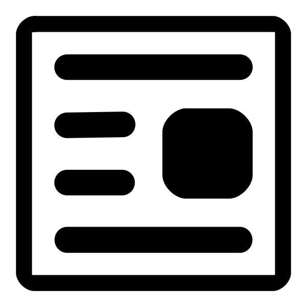 Vector clip art of monochrome wordprocessing file type sign