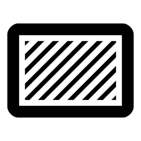Clip art of rectangle with diagonal stripes