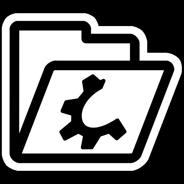 Open folder icon symbol