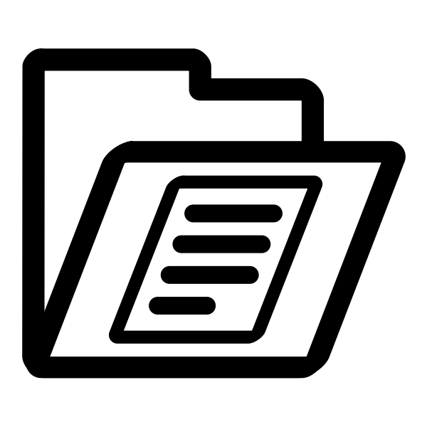 Vector image of monochrome folder