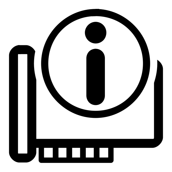 Vector image of monochrome hardware information KDE icon