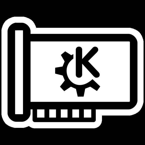Vector clip art of primary mono hardware KDE icon