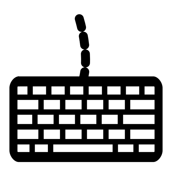 Computer keyboard icon silhouette