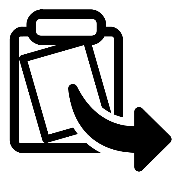 Monochrome arrow vector icon