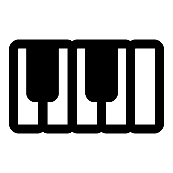 Vector clip art of monochrome piano pictogram