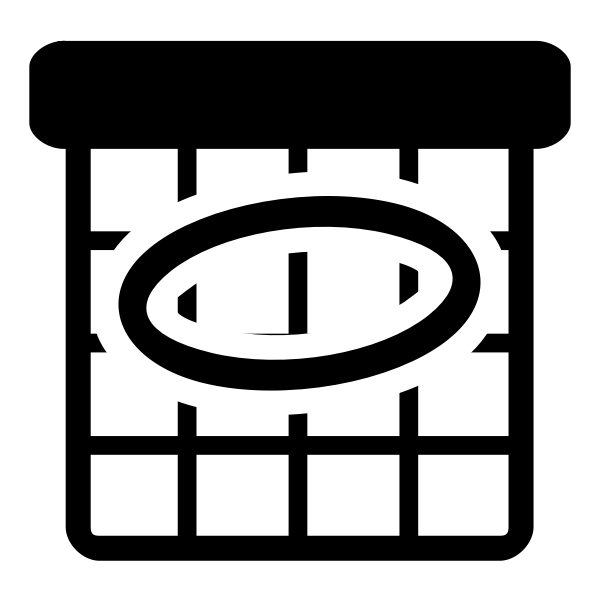 Vector image of primary schedule black and white icon