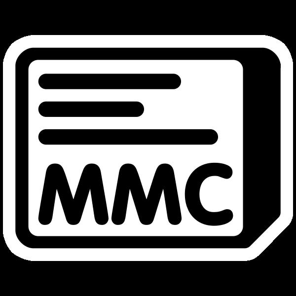 MMC vector icon
