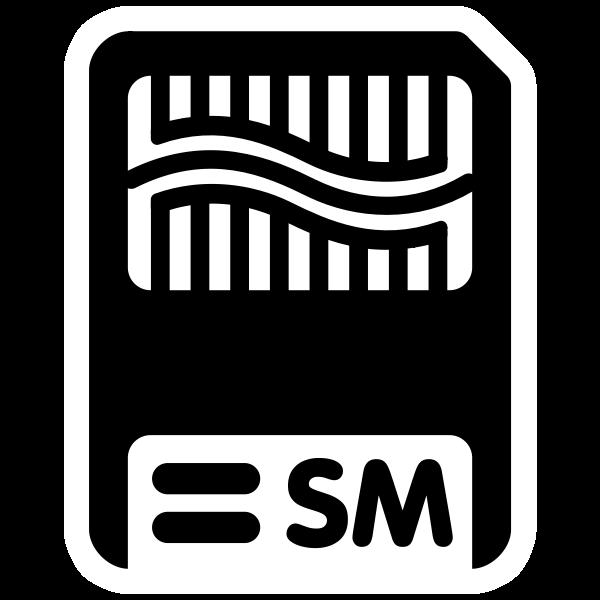Monochrome SM icon