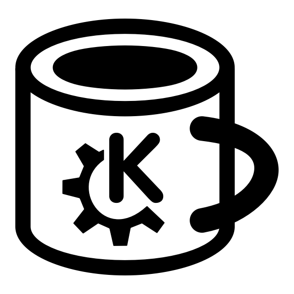 Vector drawing of tea mug pictogram