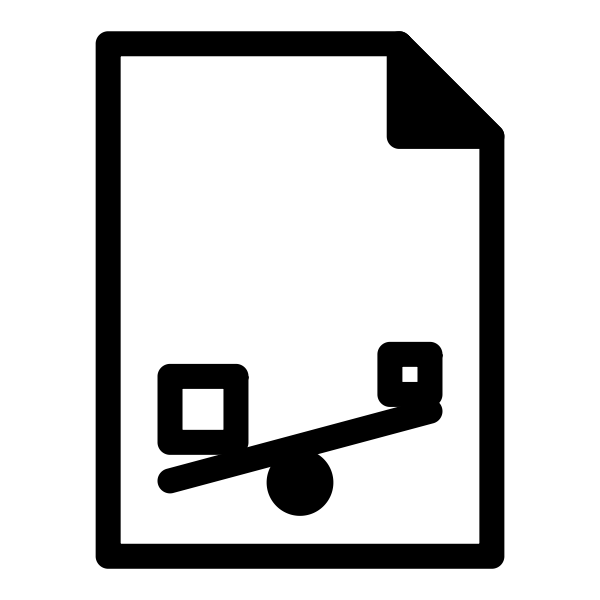 Template balance sheet icon