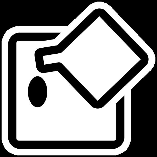 Flood fill tool monochrome icon