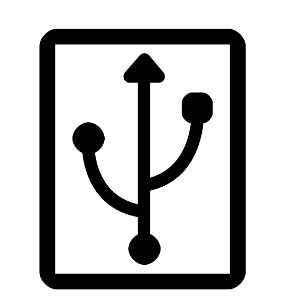 USB monochrome KDE icon vector illustration