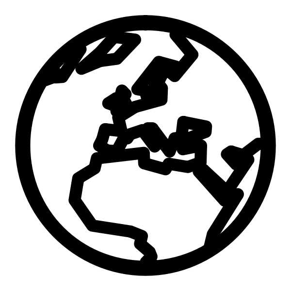 Monochrome icon globe