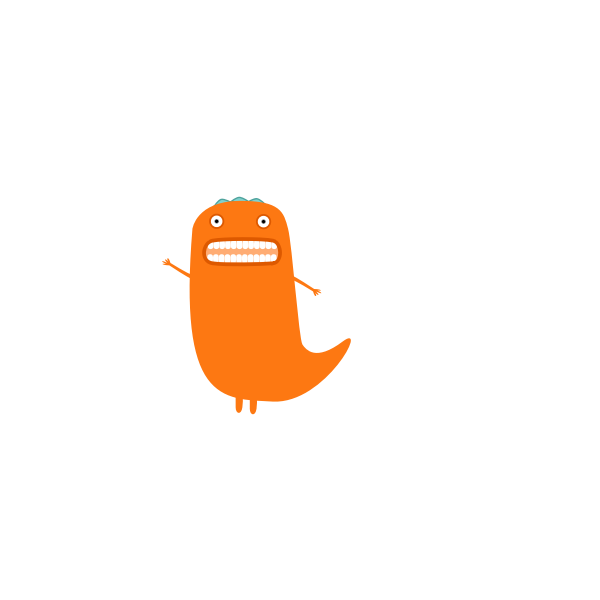 Orange Monster vector illustration